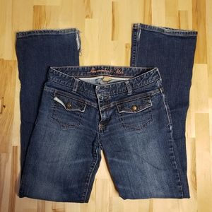 Abercrombie & Fitch Low Rise Bootcut Jeans Sz 6